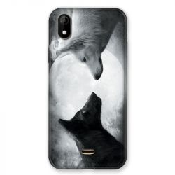 Coque Pour Wiko Y61 Loup Duo