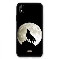 Coque Pour Wiko Y61 Loup Noir