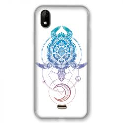 Coque Pour Wiko Y61 Animaux Maori Tortue Color