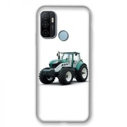 Coque Pour Oppo A53 / A53S Agriculture Tracteur Blanc