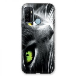 Coque Pour Oppo A53 / A53S Chat Vert