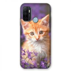 Coque Pour Oppo A53 / A53S Chat Violet