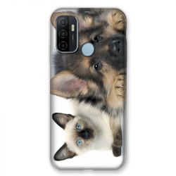 Coque Pour Oppo A53 / A53S Chien vs Chat