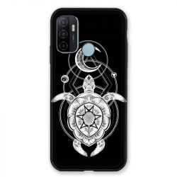 Coque Pour Oppo A53 / A53S Animaux Maori Tortue Noir