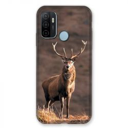 Coque Pour Oppo A53 / A53S Chasse Chevreuil Blanc