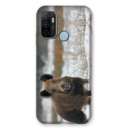 Coque Pour Oppo A53 / A53S Chasse Sanglier Neige