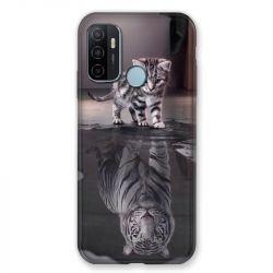 Coque Pour Oppo A53 / A53S Chat Reflet