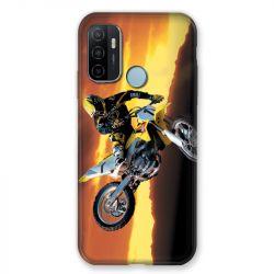 Coque Pour Oppo A53 / A53S Moto Cross Noir