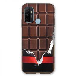 Coque Pour Oppo A53 / A53S Trompe Oeil Chocolat