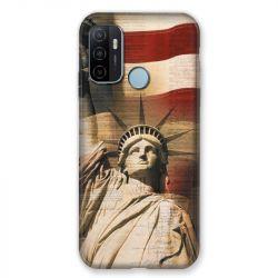 Coque Pour Oppo A53 / A53S Amerique USA Statue liberté