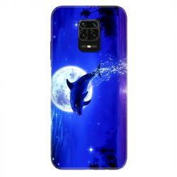 Coque Pour Xiaomi Redmi Note 9S / 9 Pro Dauphin Lune
