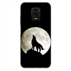 Coque Pour Xiaomi Redmi Note 9S / 9 Pro Loup Noir