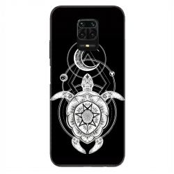 Coque Pour Xiaomi Redmi Note 9S / 9 Pro Animaux Maori Tortue Noir
