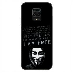 Coque Pour Xiaomi Redmi Note 9S / 9 Pro Anonymous I am free