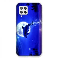 Coque Pour Samsung Galaxy A42 Dauphin Lune