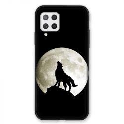 Coque Pour Samsung Galaxy A42 Loup Noir