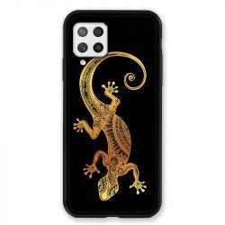 Coque Pour Samsung Galaxy A42 Animaux Maori Lezard Noir
