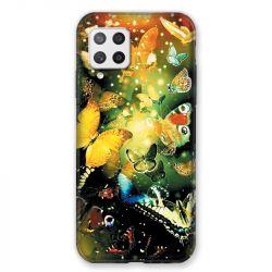 Coque Pour Samsung Galaxy A42 Papillon Jaune