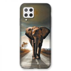 Coque Pour Samsung Galaxy A42 Savane Elephant Route
