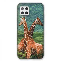Coque Pour Samsung Galaxy A42 Savane Girafe Duo