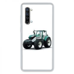 Coque Pour Oppo Find X2 Lite / Reno 3 Agriculture Tracteur Blanc