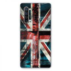 Coque Pour Oppo Find X2 Lite / Reno 3 Angleterre UK Jean's