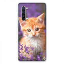 Coque Pour Oppo Find X2 Lite / Reno 3 Chat Violet