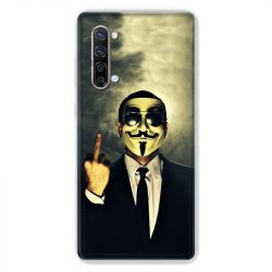 Coque Pour Oppo Find X2 Lite / Reno 3 Anonymous Doigt