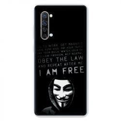 Coque Pour Oppo Find X2 Lite / Reno 3 Anonymous I am free