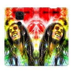 Housse Cuir Portefeuille Pour Xiaomi Redmi Note 9 Bob Marley Color