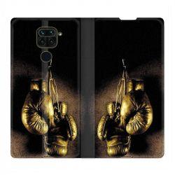 Housse Cuir Portefeuille Pour Xiaomi Redmi Note 9 Boxe Gant Vintage
