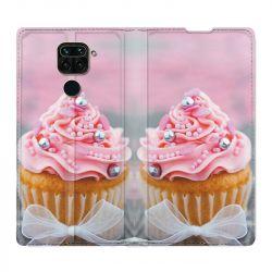 Housse Cuir Portefeuille Pour Xiaomi Redmi Note 9 Cupcake