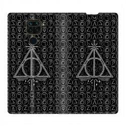 Housse Cuir Portefeuille Pour Xiaomi Redmi Note 9 WB License Harry Potter Triangle noir