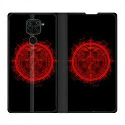Housse Cuir Portefeuille Pour Xiaomi Redmi Note 9 Manga Fullmetal Alchemist Logo
