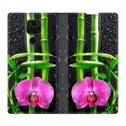 Housse Cuir Portefeuille Pour Xiaomi Redmi Note 9 Orchidee Bambou
