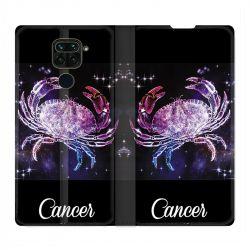 Housse Cuir Portefeuille Pour Xiaomi Redmi Note 9 Signe Zodiaque 2 Cancer