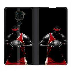 Housse Cuir Portefeuille Pour Xiaomi Redmi Note 9 Basketeur