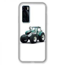 Coque Pour Vivo Y70 Agriculture Tracteur Blanc