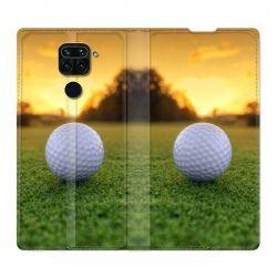 Housse Cuir Portefeuille Pour Xiaomi Redmi Note 9 Golf Balle