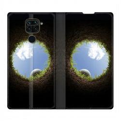 Housse Cuir Portefeuille Pour Xiaomi Redmi Note 9 Golf Trou