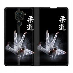 Housse Cuir Portefeuille Pour Xiaomi Redmi Note 9 Judo Noir