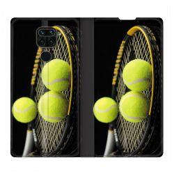 Housse Cuir Portefeuille Pour Xiaomi Redmi Note 9 Tennis Balls