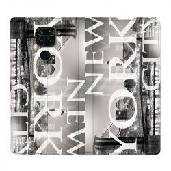 Housse Cuir Portefeuille Pour Xiaomi Redmi Note 9 Amerique USA New York