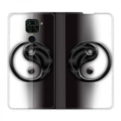 Housse Cuir Portefeuille Pour Xiaomi Redmi Note 9 Yin Yang 3d