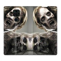 Housse Cuir Portefeuille Pour Xiaomi Redmi Note 9 Zombie Blanc