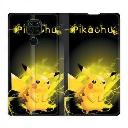 Housse Cuir Portefeuille Pour Xiaomi Redmi Note 9 Pokemon Pikachu Eclair