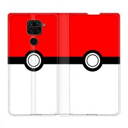 Housse Cuir Portefeuille Pour Xiaomi Redmi Note 9 Pokemon Pokeball