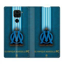 Housse Cuir Portefeuille Pour Xiaomi Redmi Note 9 Olympique Marseille OM Bande