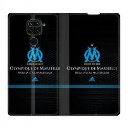 Housse Cuir Portefeuille Pour Xiaomi Redmi Note 9 Olympique Marseille OM Fier etre Marseillais