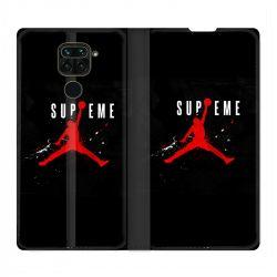 Housse Cuir Portefeuille Pour Xiaomi Redmi Note 9 Jordan Supreme Noir